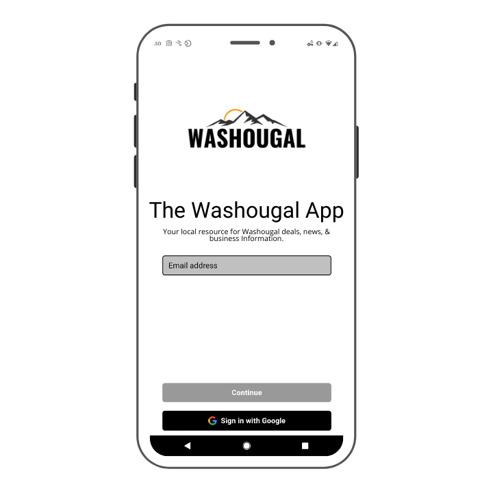 A screen shot of the Washougal App.